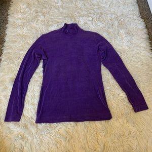 Purple turtleneck
